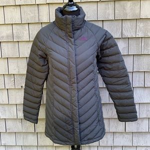 The North Face black goose down coat small